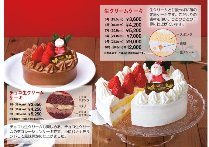 チョコ生クリームケーキ 生クリームケーキ