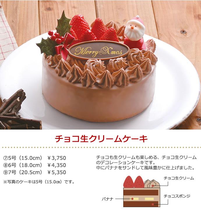 チョコ生クリームケーキ